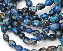 Midnight Blue Impression Jasper Nugget 12-15x8-11mm