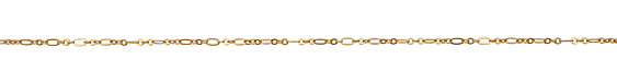 Satin Hamilton Gold (plated) Flat Oval & Ring Chain