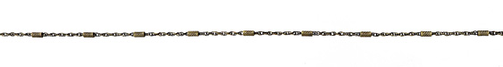 Zola Elements Antique Brass (plated) Crosshatched Bar & Rope Chain