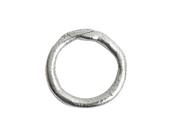 Nunn Design Antique Silver (plated) Large Organic Hoop 21mm