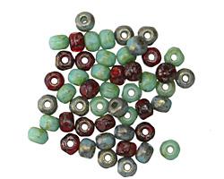 Czech Glass Cherry Festival Mix Trica Beads 2.5x4mm