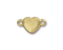 TierraCast Gold (plated) Heart Bezel Link 20.5x12mm