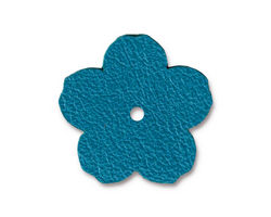 "TierraCast Turquoise Leather 1"" Flower 25mm"