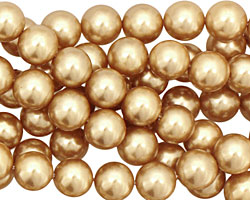 Hamilton Gold Shell Pearl Round 8mm