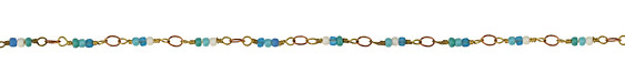 Zola Elements Tide Pool Seed Bead Link Brass Chain