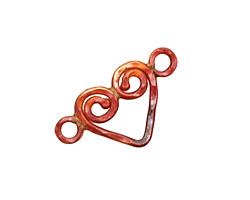Patricia Healey Copper Spiral Heart Link 25x15mm
