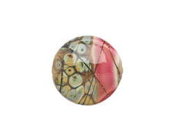 A Beaded Gift Girls Night Out Sage Glass Coin 18mm