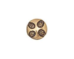 Saki Bronze 4 Teardrops Button 13mm