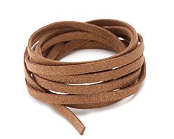 Bronze Metallic Microsuede Flat Cord 5mm