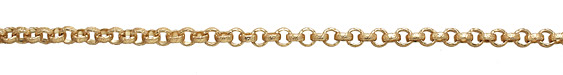 Satin Hamilton Gold (plated) Vintage Pattern Rollo Chain