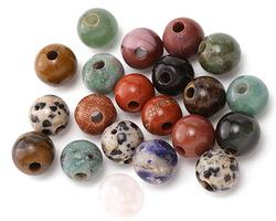 Multi Gemstone (Sodalite, Tiger Eye, Red Jasper, Aventurine) Round (Large Hole) 10mm