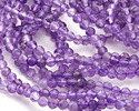 Amethyst (AA) Diamond Cut Faceted Round 3mm