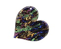 Zola Elements Abalone w/ Black Backing Acetate Heart Focal 35mm