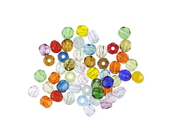 Czech Fire Polished Glass Multi Color Round 3mm