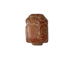 Soochow Jade Carved Buddha Head 13-14x19-20mm