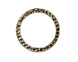 "TierraCast Antique Brass (plated) 1"" Hammertone Ring 25mm"