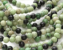 Grass Green Turquoise Round 6mm