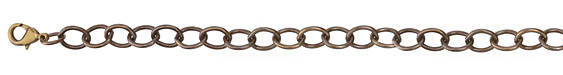 Vintaj Vogue Natural Brass Finished Rounded Oval Chain 8""