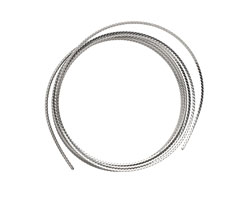 Beadalon Stainless Steel Twisted Square Wrapping Wire 18 gauge, 1.25m