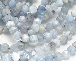 Aquamarine (multi-blue) Star Cut Round 5-6mm