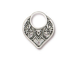 TierraCast Antique Silver (plated) Temple Ring Link 18x21mm