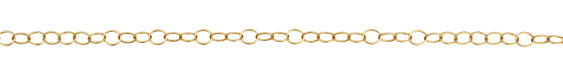 Satin Hamilton Gold (plated) Oval Cable Chain, 25ft Spool