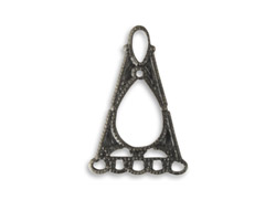 Vintaj Arte Metal Fanned Filigree Pendant 18x28mm