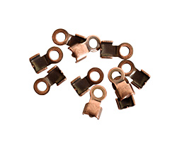 Nunn Design Antique Copper (plated) 5mm Fold Over Cord End 11x6mm