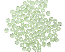 Czech Glass Peridot Melon Round 3mm