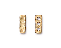 TierraCast Gold (plated) Rock & Roll 3-Hole Bar 5x14mm