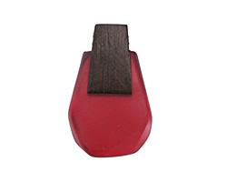 Wood & Ruby Resin Geometric Cut Drop Pendant 30x47mm