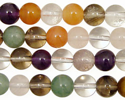 Multi Stone (Smoky, Rock & Aventurine) Round 8mm