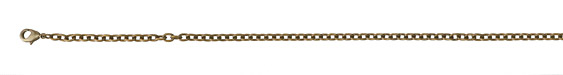 Vintaj Vogue Natural Brass Finished Classic Cable Chain 8""
