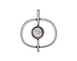 Zola Elements Antique Silver (plated) Orbit Bezel Focal 27x31mm
