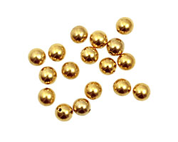 Memory Wire Gold (plated) Round Endcap 5mm