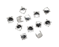Beadalon Silver (plated) Flat Memory Wire Round Cup Finding 6mm