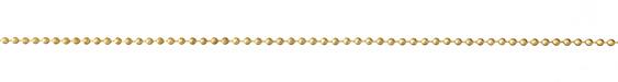 Satin Hamilton Gold (plated) Ball Chain (bulk discount)