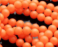 Neon Orange Shell Pearl Round 4mm