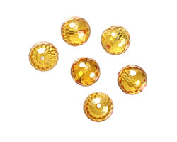 Sunshine Faceted Round 10mm