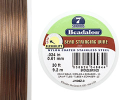 "Beadalon Nylon Coated Stainless Steel .024"" 7 Strand Wire 30ft."