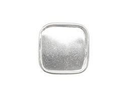 Nunn Design Sterling Silver (plated) Large Square Frame Button 18mm