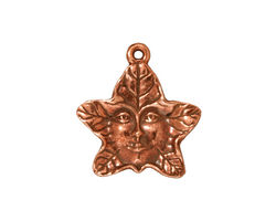 TierraCast Antique Copper (plated) 2-Sided Tree Spirit Charm 19x20mm