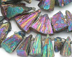 Titanium Pyrite Graduated Fan 16x20mm-30x35mm