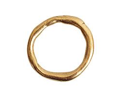 Nunn Design Antique Gold (plated) Grande Organic Hoop 28.5x30mm