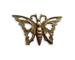 Vintaj Natural Brass Openwork Butterfly Pendant 21x35mm