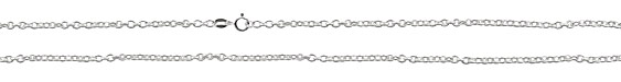 """Sterling Silver Finished Oval Cable Chain 18"""""""