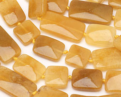 Yellow Jade (nat.) Thin Pillow & Square Mix 15x15-30mm
