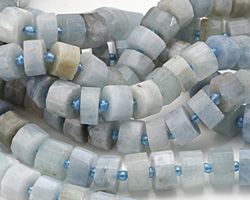 Aquamarine (Multi) Faceted Disc 5-8x9-10mm