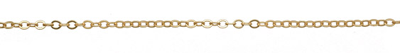 Satin Hamilton Gold (plated) Flat Cable Chain