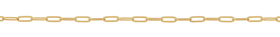 Matte Gold (plated) Paperclip Chain